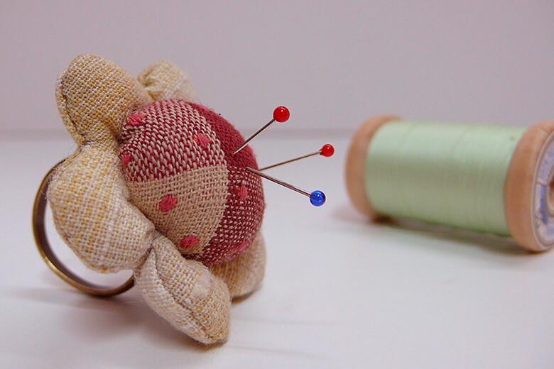Anillo porta agujas de patchwork